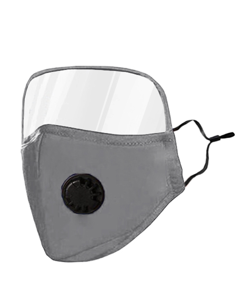 Outdoor Face Protective Ear Loop Valve Face Mask With Eyes Shield thumbnail