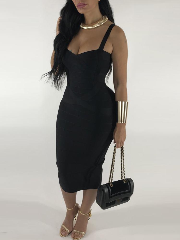 Sleeveless Spaghetti Strap Mini Dress