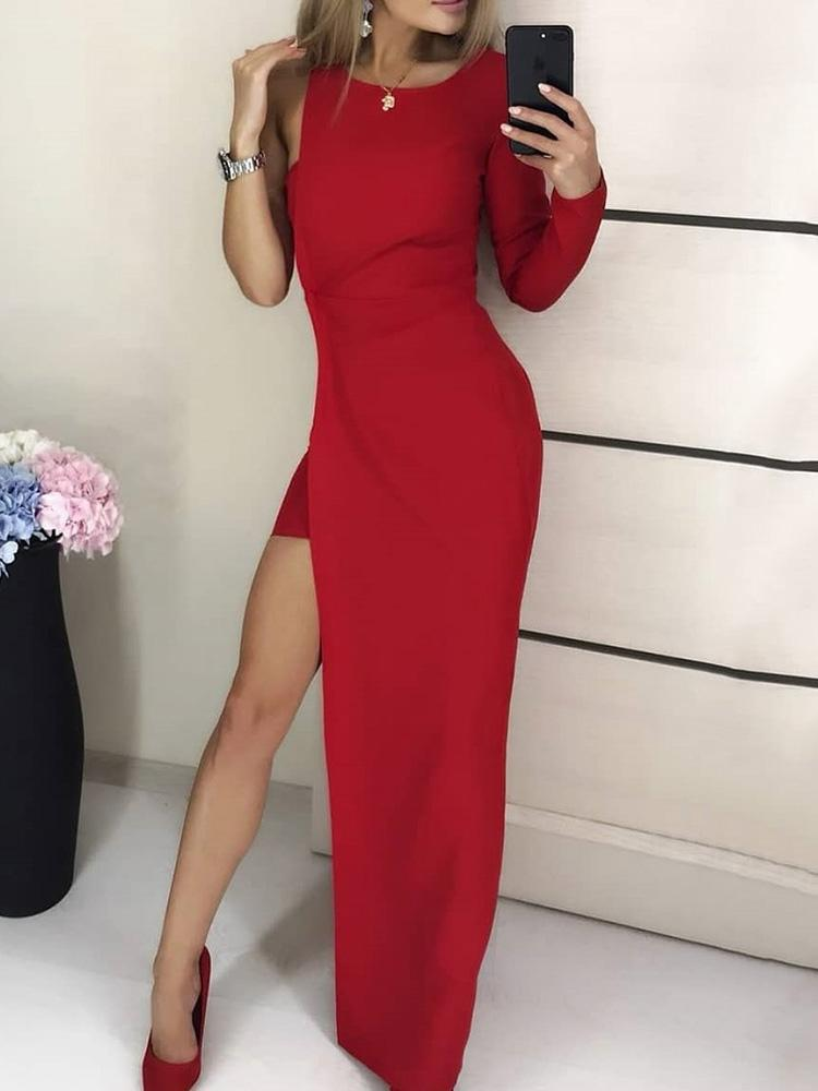 boutiquefeel / One Sleeve High Slit Party Dress