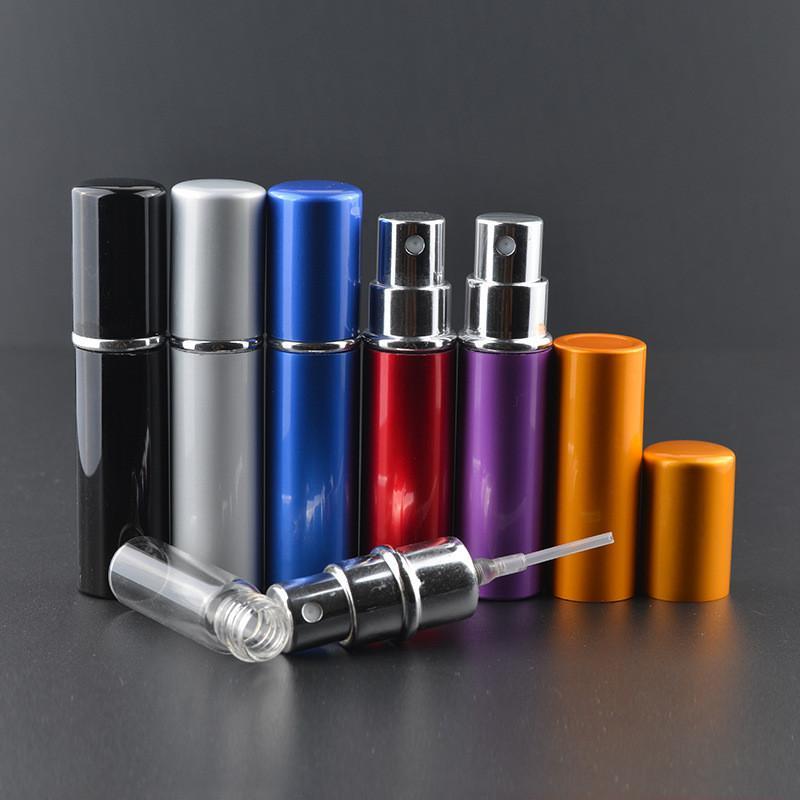 Fashion Protable 5ml Mini Empty Refillable Perfume Atomizer Bottle Travel Scent Pump Portable Spray Case thumbnail