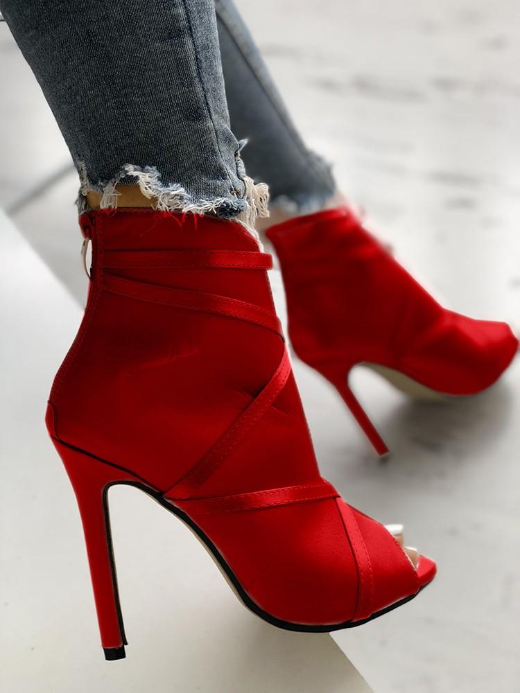 boutiquefeel / Fashion Peep Toe Bandage Pumps