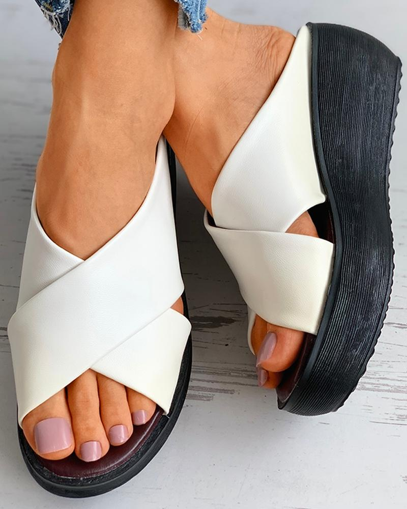 Bandage Peep Toe Wedge Sandals