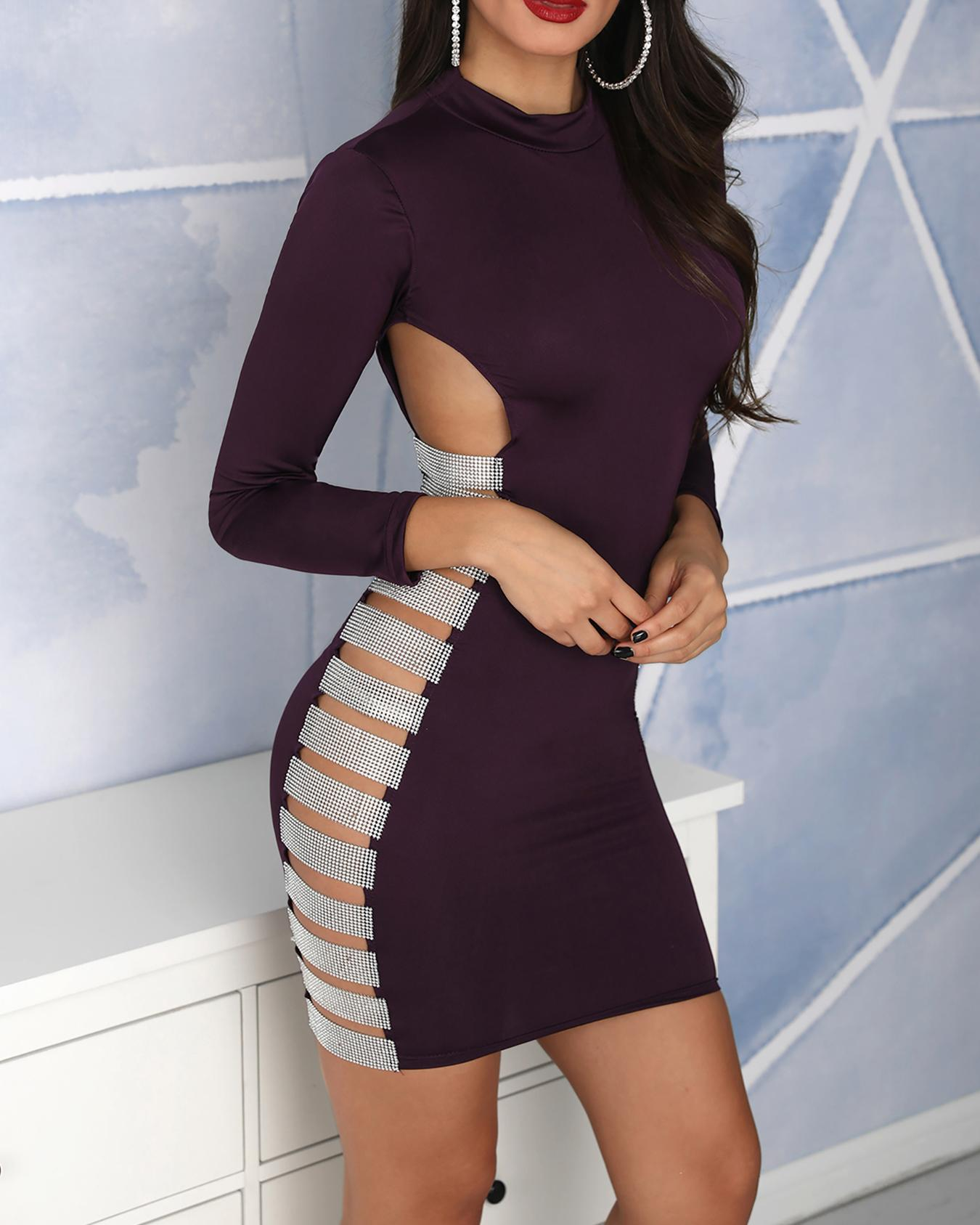 82fb7c72713 Sequin Ladder Cut Out Bodycon Dress Online. Discover hottest trend ...