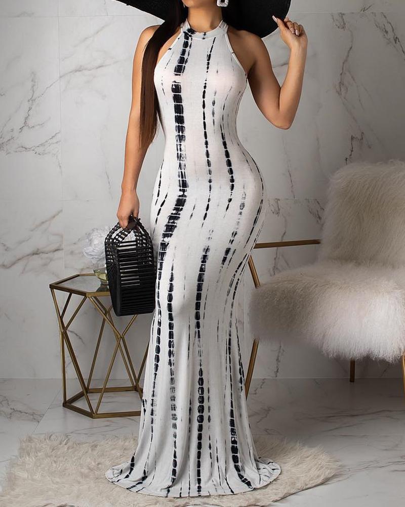 021c66444cc Tie Dye Print Cutout Back Maxi Dress Online. Discover hottest trend ...