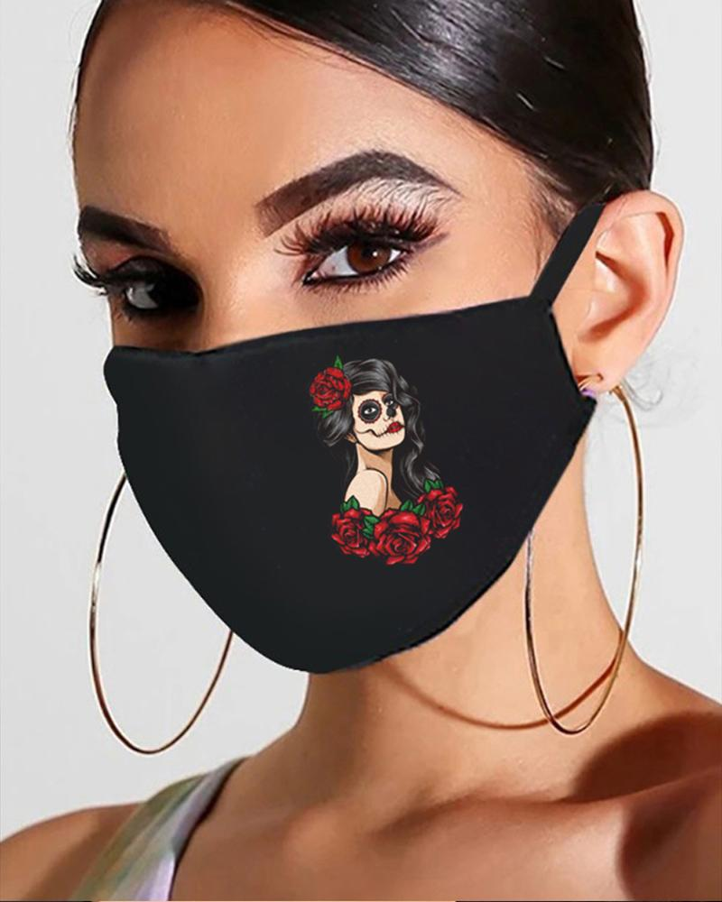 Halloween Skull / Ghost Print Breathable Mouth Mask thumbnail
