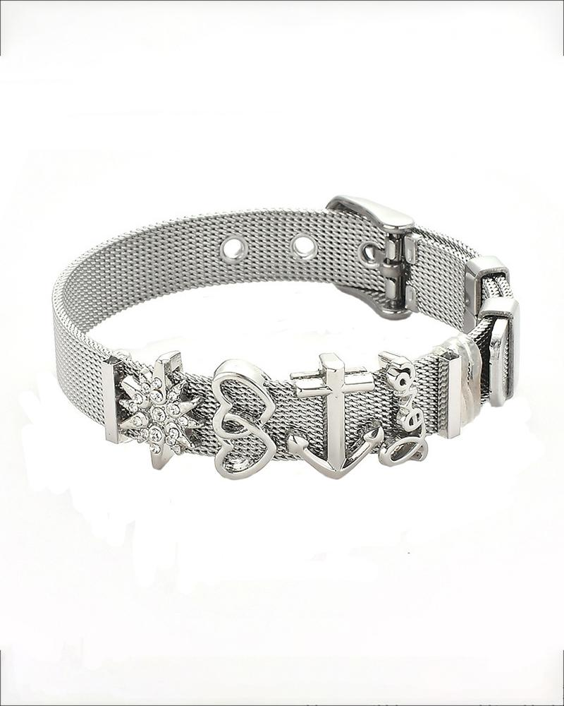 Pattern Studded Braided Bracelet thumbnail