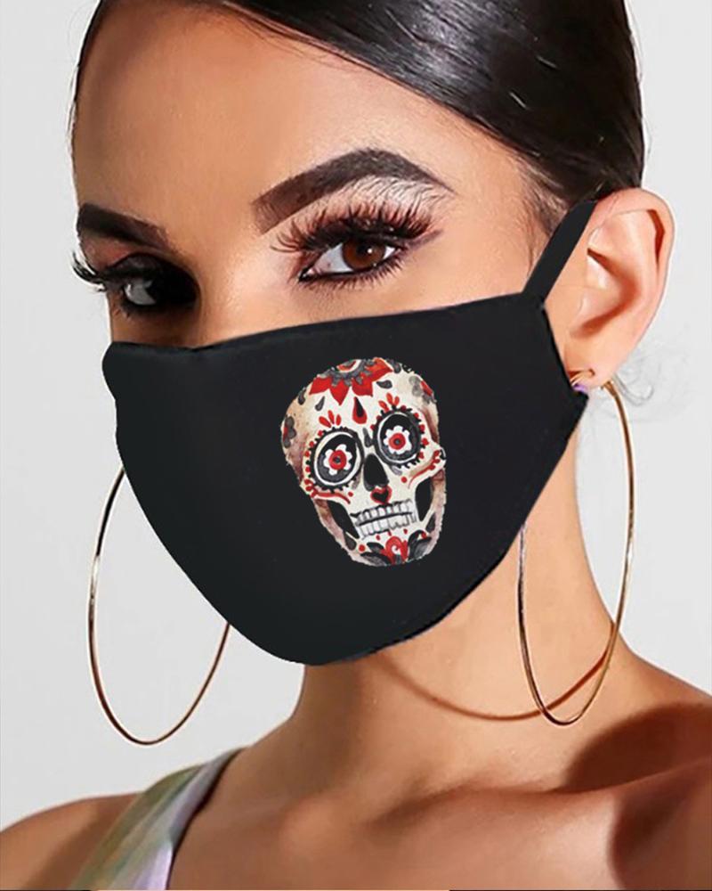 Halloween Skull / Ghost / Pumpkin Print Breathable Mouth Mask thumbnail