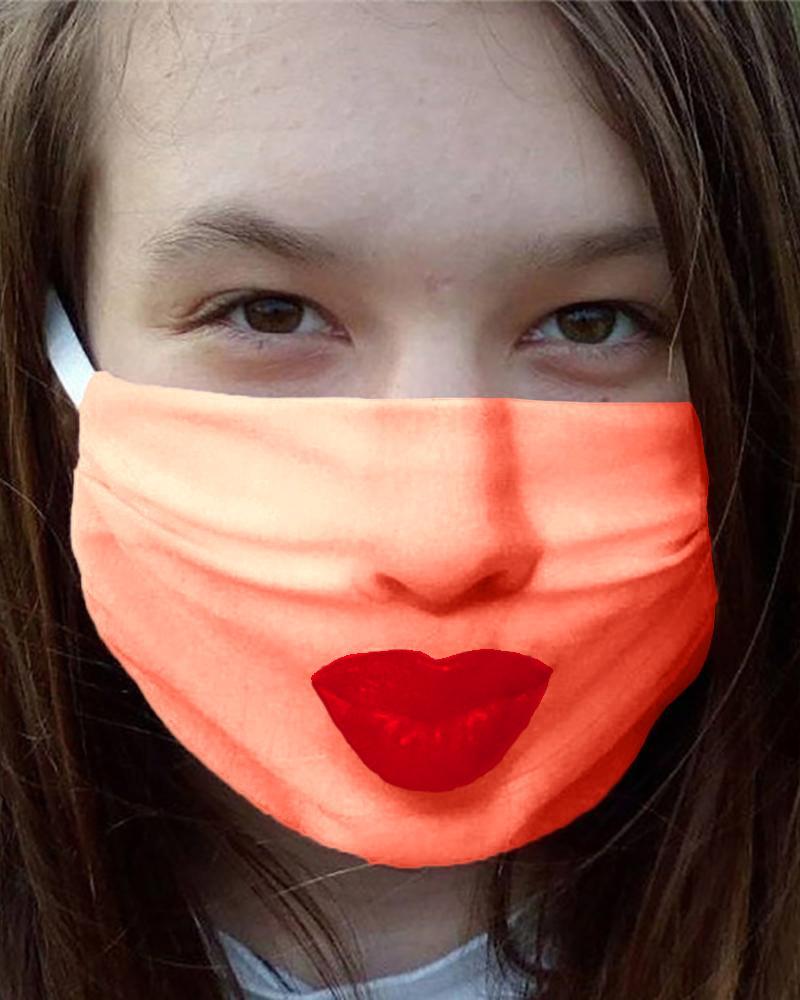 Face Emoji Print Breathable Mouth Mask thumbnail