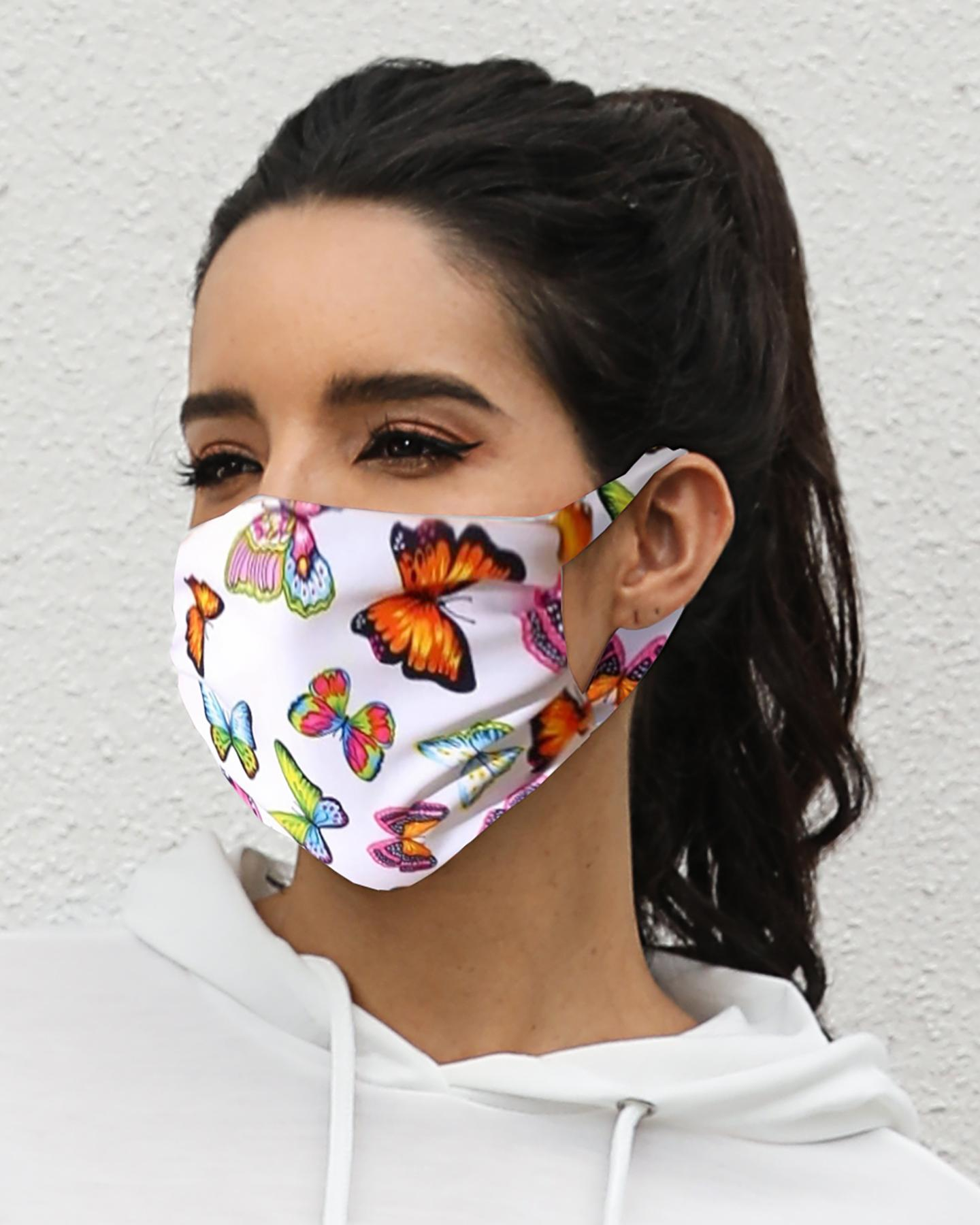 Butterfly Print Breathable Mouth M .a. s. k Washable And Reusable thumbnail