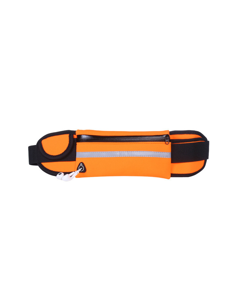 Travel Multifunctional Sports Mini Fanny Pack Portable Waterproof USB Waist Pack Belt Bag, boutiquefeel, orange  - buy with discount
