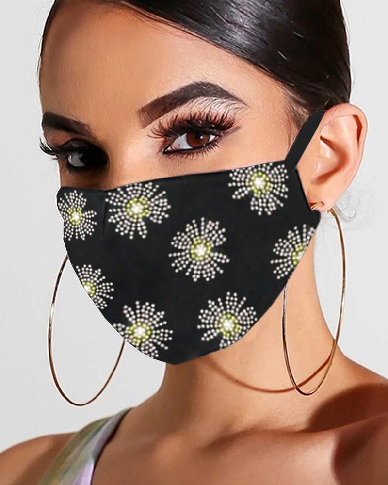 Glitter Studded Breathable Mouth Mask Reusable thumbnail