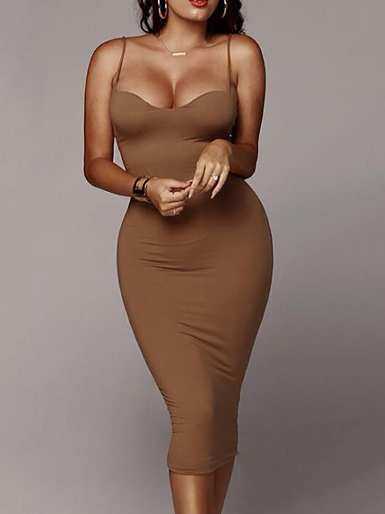 boutiquefeel / Spaghetti Strap Sleeveless Midi Dress