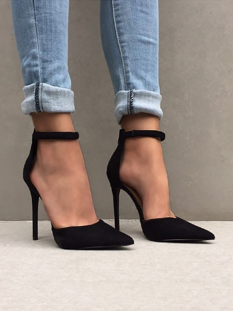 boutiquefeel / Fashion Ankle Strap Stiletto Pumps