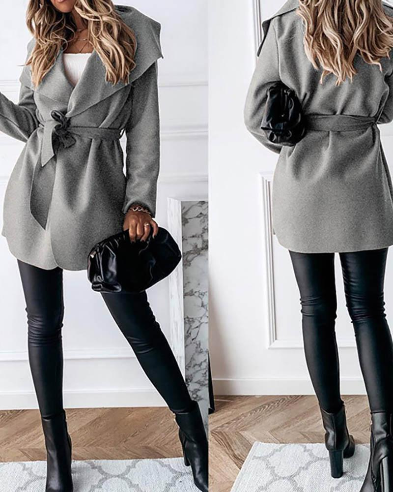 Long Sleeve Solid Casual Cardigan