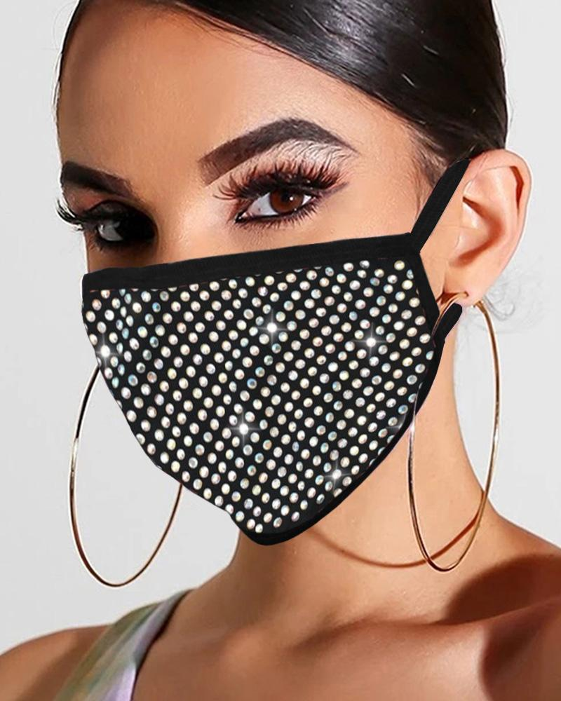 Studded Glitter Breathable Mouth Mask Reusable thumbnail