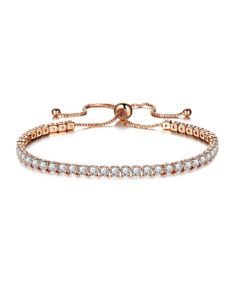 Rhinestone Adjustable Chain Bracelet thumbnail