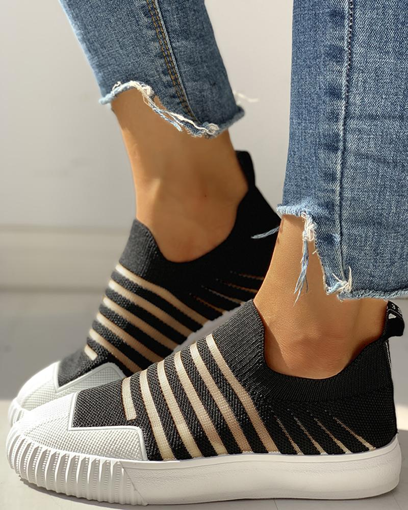 Hollow Out Patchwork Casual Sneakers thumbnail