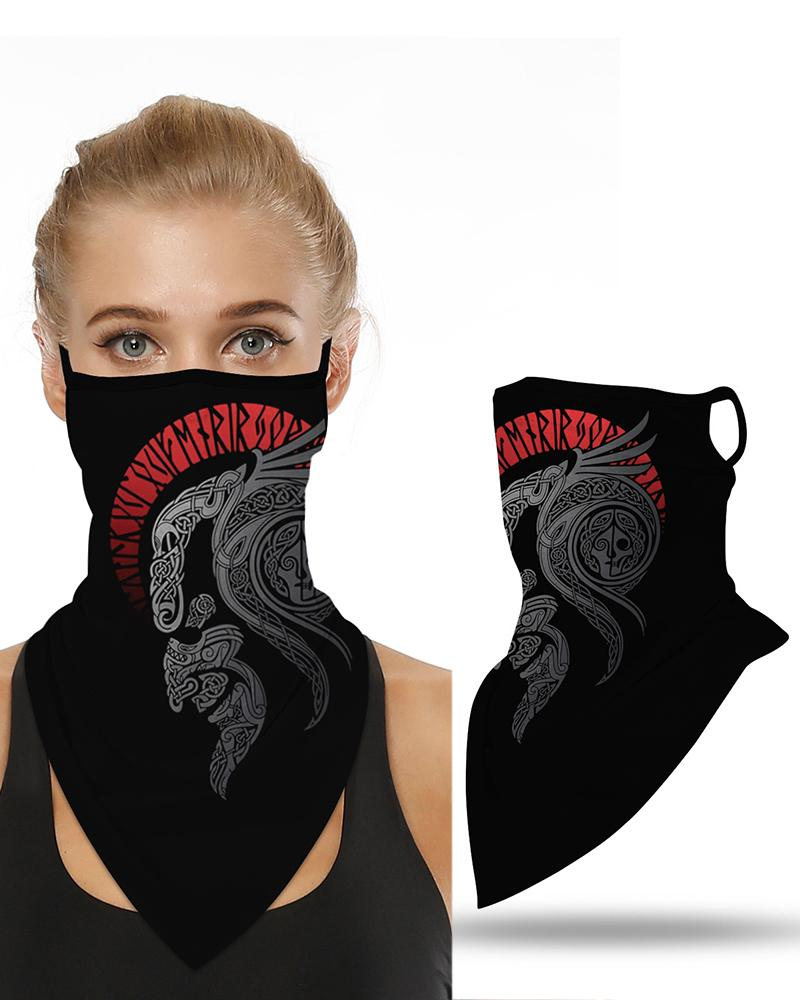 Print Breathable Ear Loop Face Cover Windproof Motorcycling Dust Outdoors thumbnail