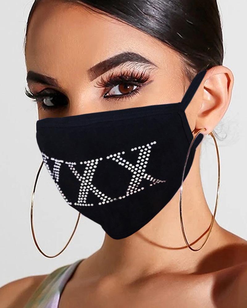 Studded Glitter Breathable Mouth Mask Reusable thumbnail