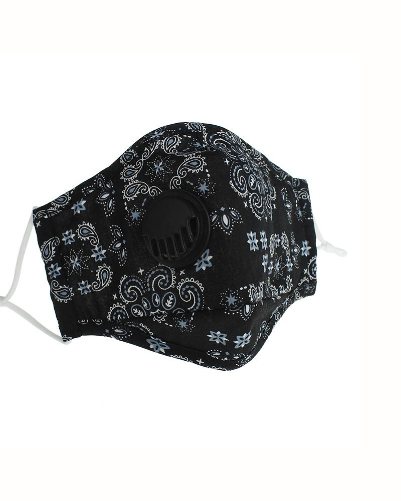 Paisley Print Valve Breathable Mouth Mask thumbnail