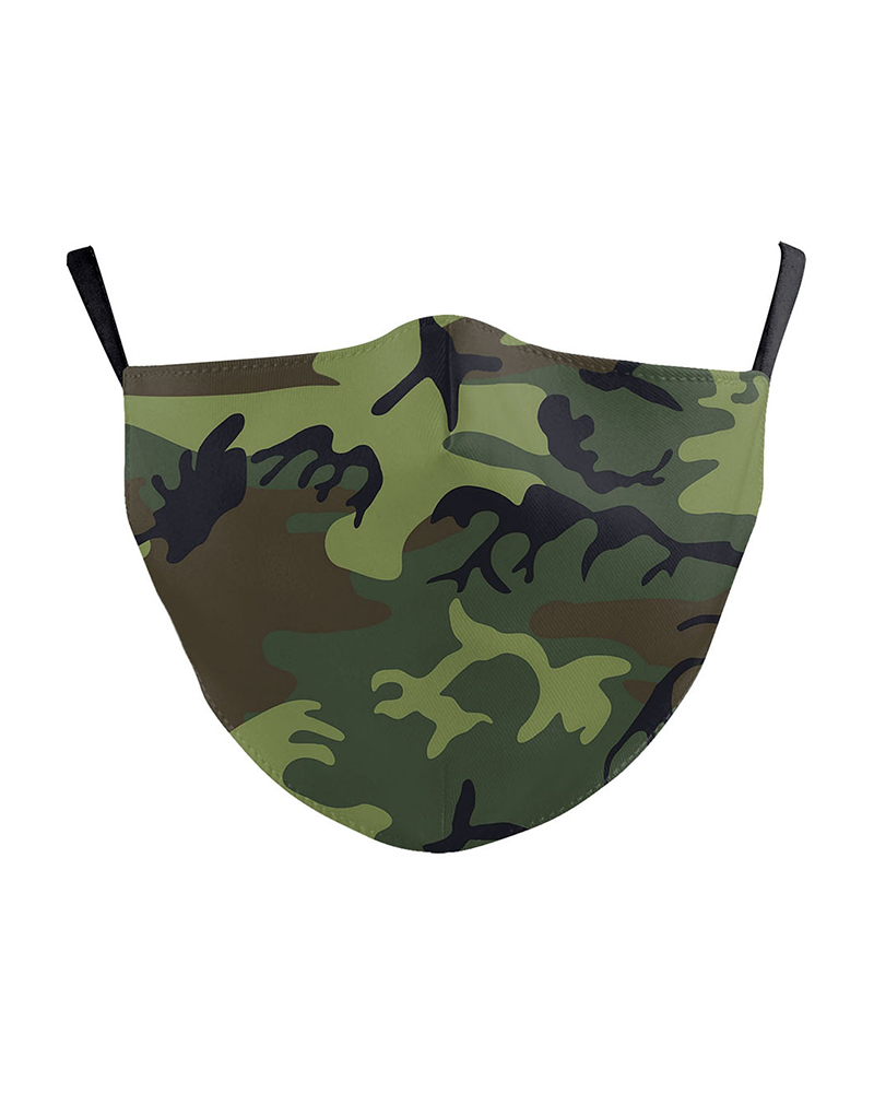 Camouflage Print Breathable Face Mask thumbnail