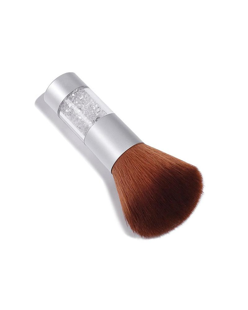 1PCS Clear Handle Powder Brush