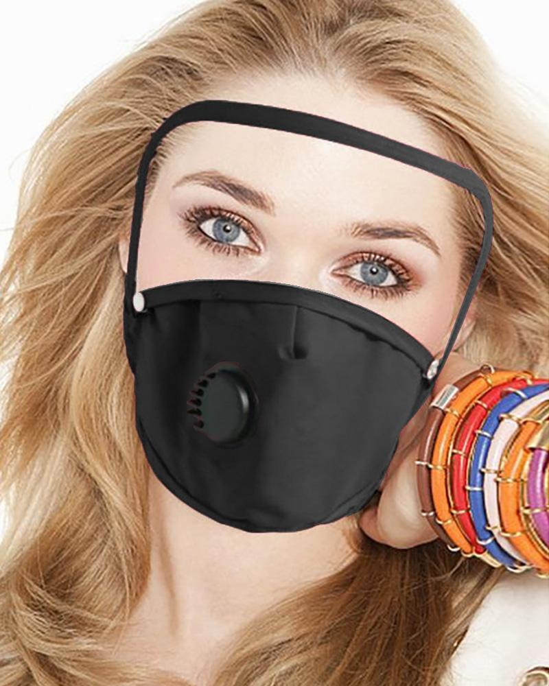 Detachable Valve Face Mask With Eyes Shield thumbnail