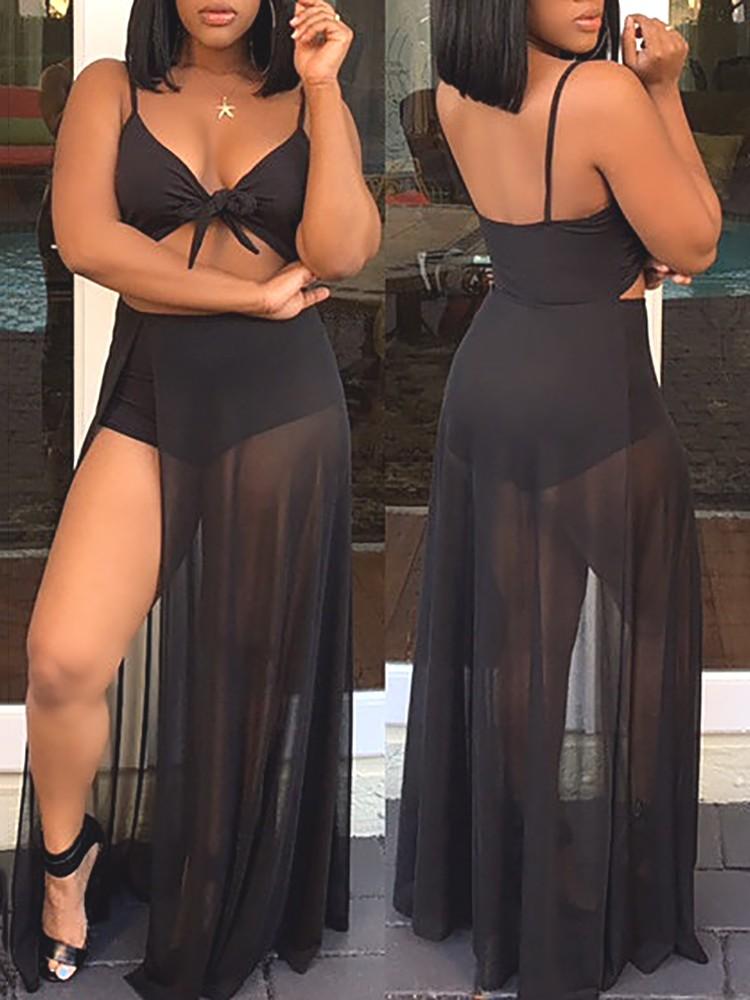 8b114a37b46f Sexy Twisted Cutout High Slit Maxi Romper Dress Online. Discover ...