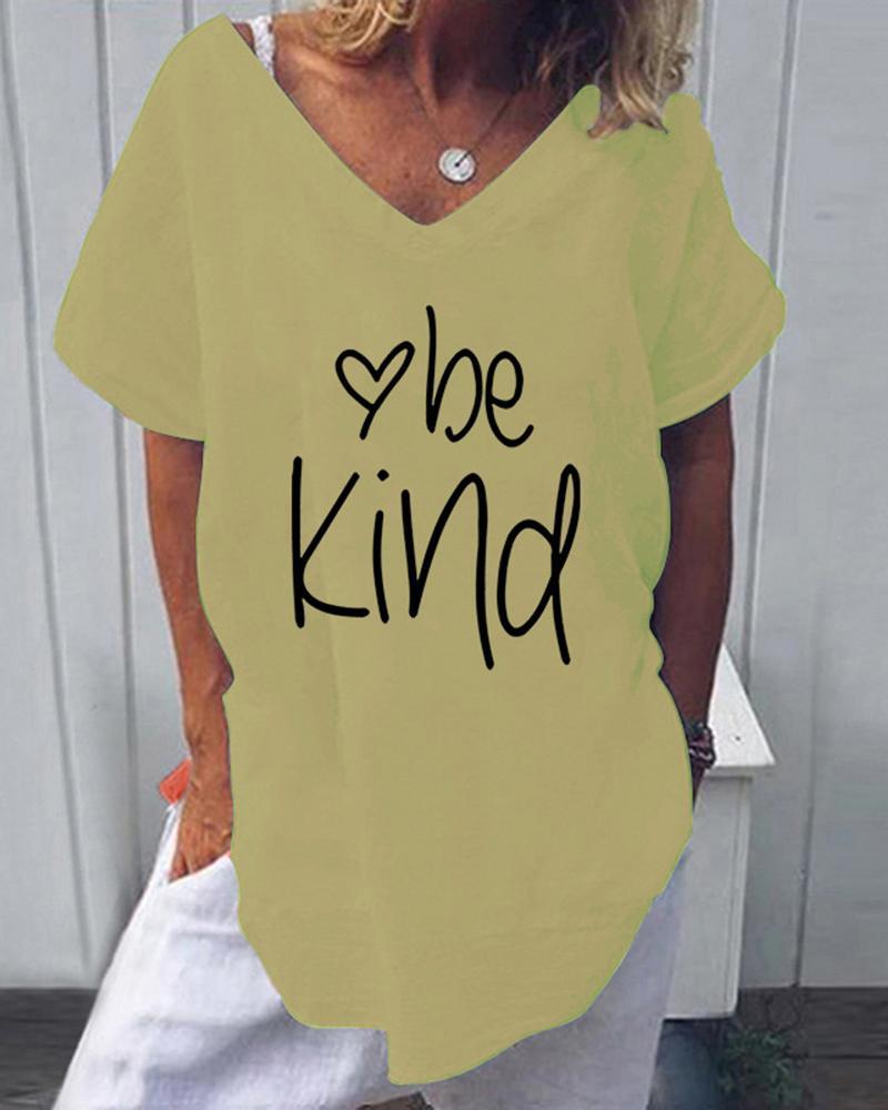Be Kind Heart Print T-Shirt thumbnail