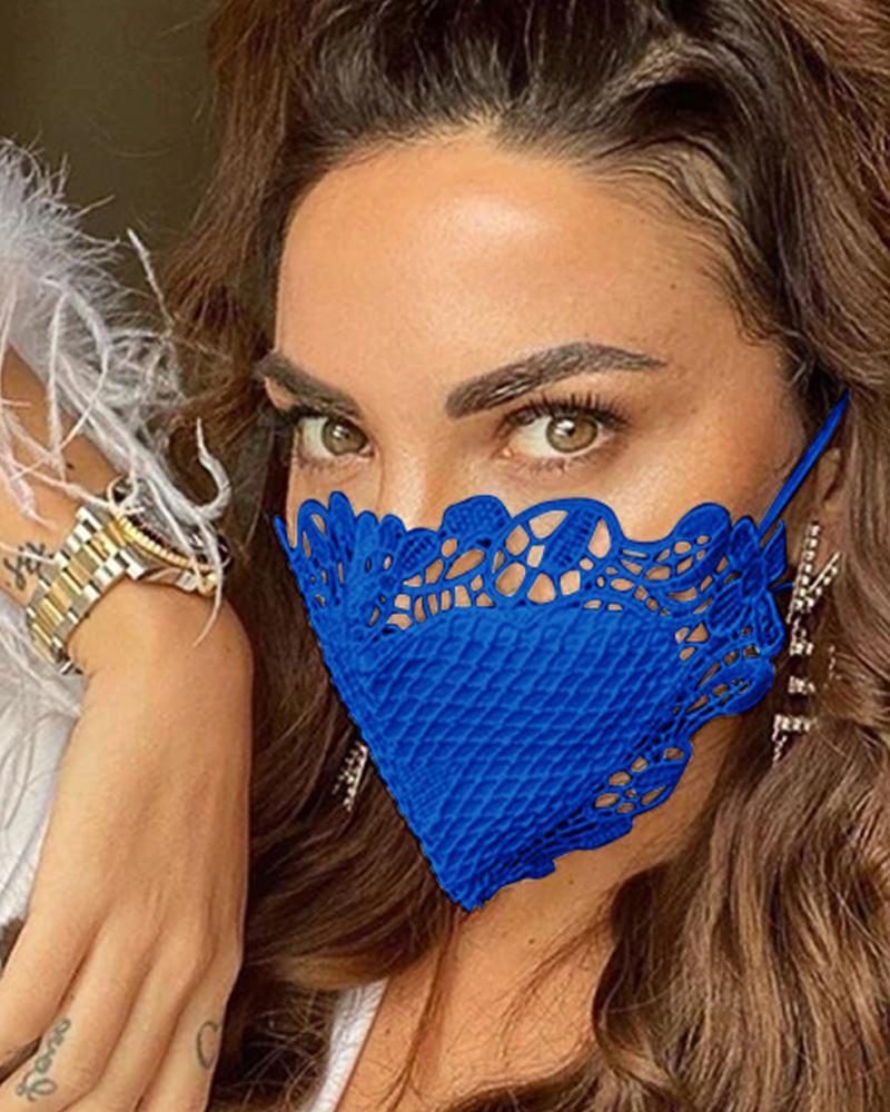 Crochet Trim Sunscreen Breathable Face Mask thumbnail