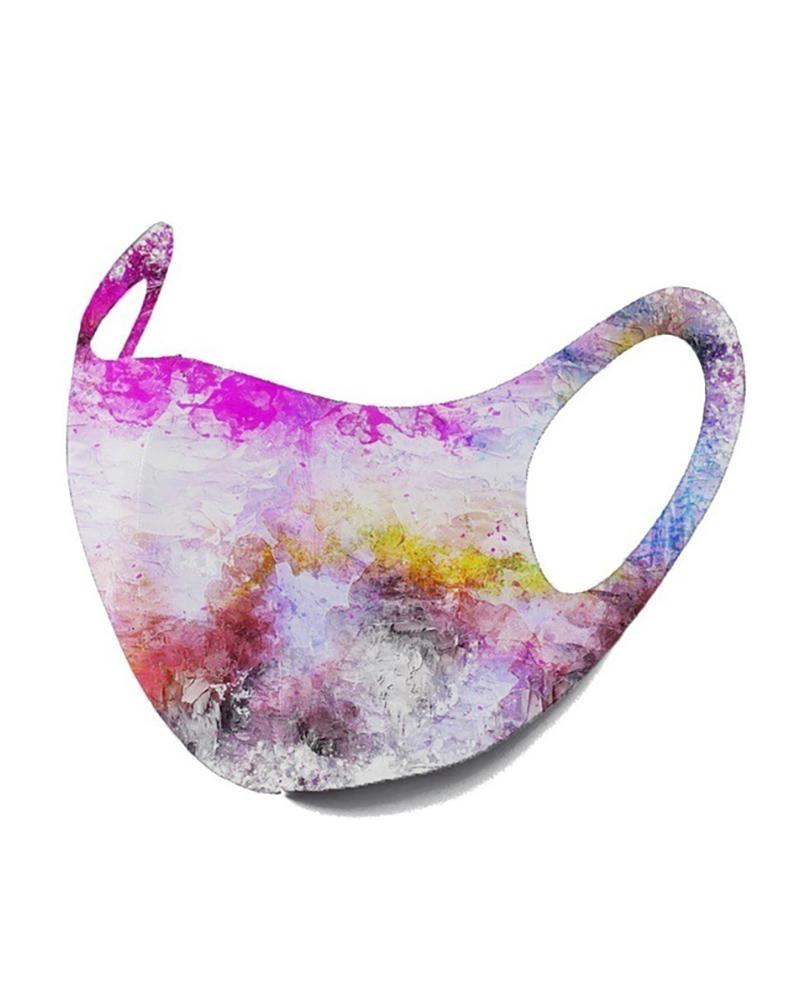 Starry Sky / Camouflage / Colorblock Breathable Face Mask thumbnail