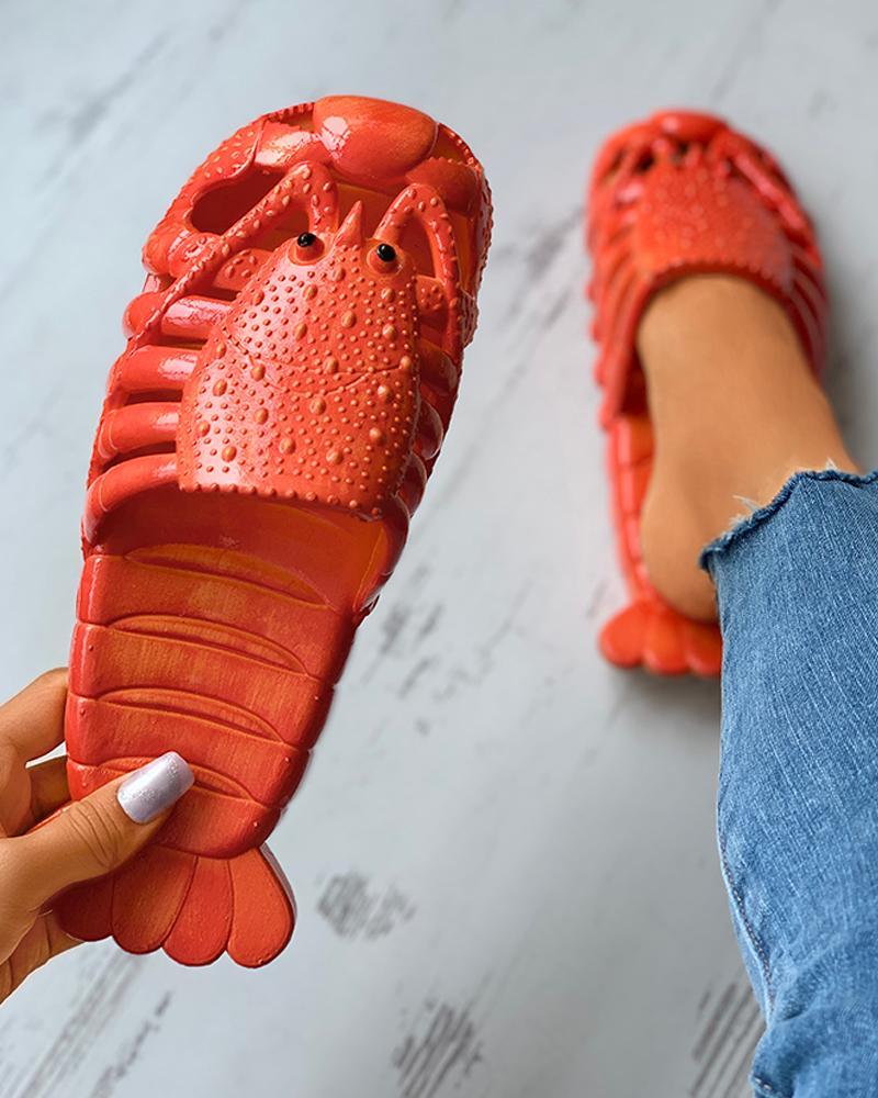 Cray Pattern Close Toe Slider Sandals thumbnail