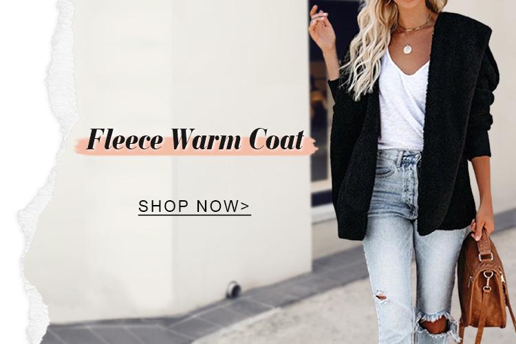Fleece warm coat
