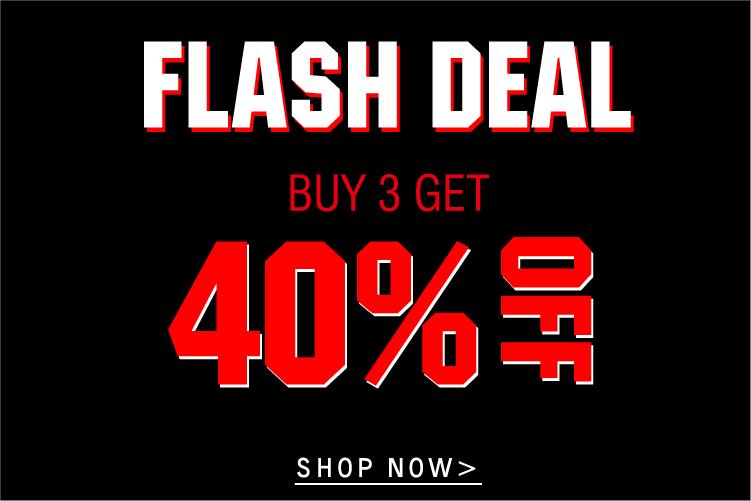 Buy 3 get 40% off