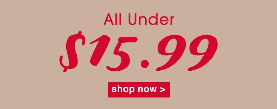 All Under $15.99